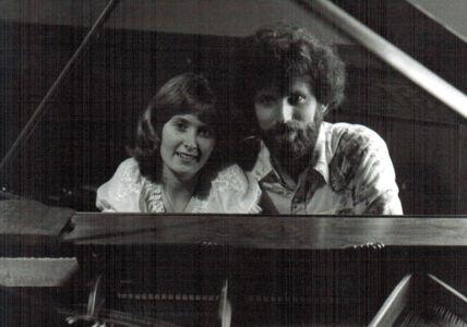 Peeking through the piano