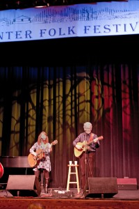 Carleen and Mike at the Florence Winter Folk Festival